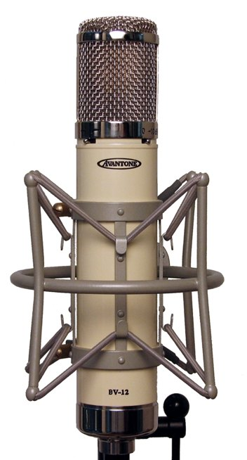 BV-12 microphone in its shockmount